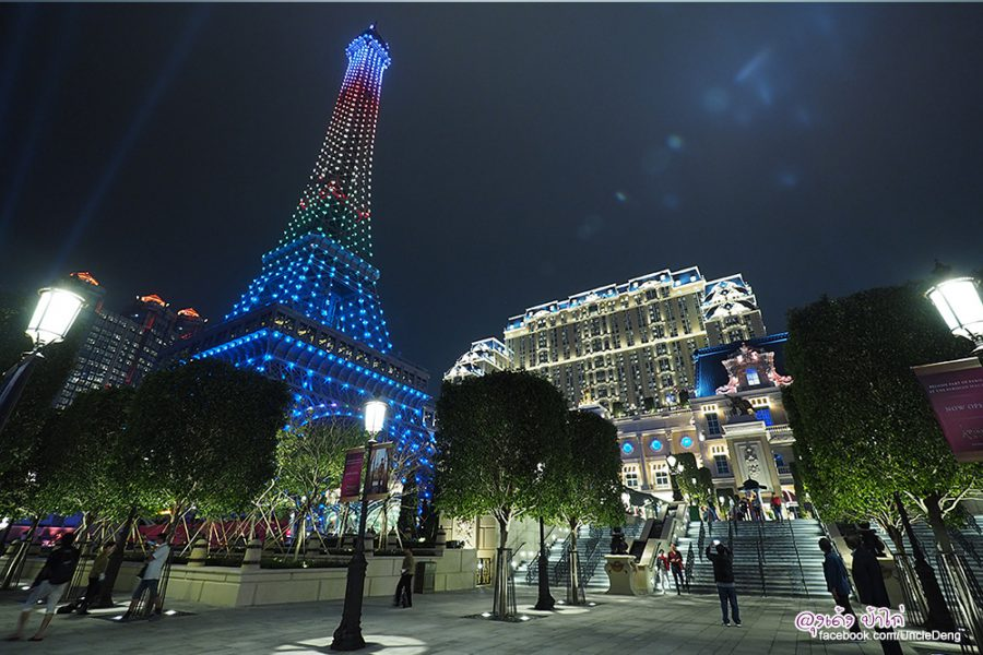 ชมฟรี Eiffel Tower Light Show @ The Parisian Macao